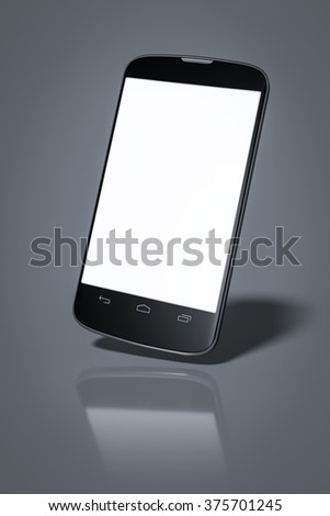 a typical smart phone with space for your content - stock photo