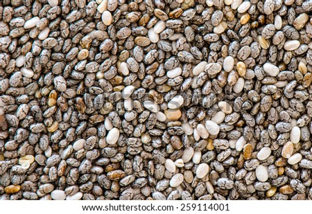 A uniform background of chia seed