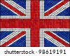 A Union Jack flag made from mosaic tiles. Also available in vector format. - stock vector