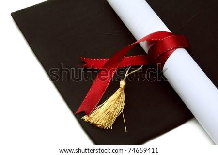 A university diploma - stock photo