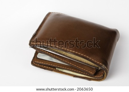 A used men's wallet - stock photo