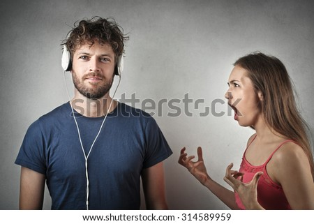 A useless arguing - stock photo