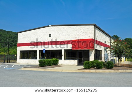 A Vacant Commercial Building available for sale or lease - stock photo