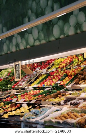 A variety of vegetables at a grocery store. - stock photo