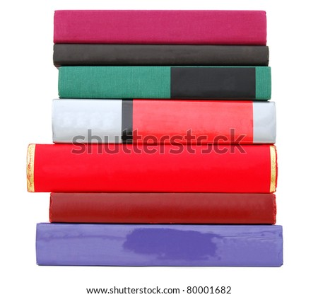 A variety pile of books - stock photo
