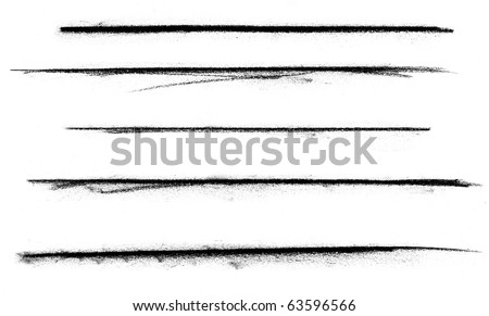 A various set of charcoal lines over a white background.