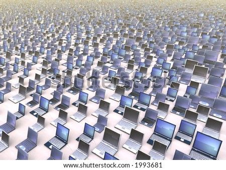 A vast amount of laptops. By adjusting the output level sliders in PhotoShop, effective text background for reports can be created