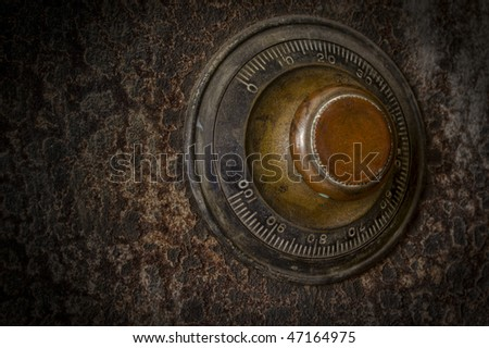 A vault knob in a grunge style - stock photo