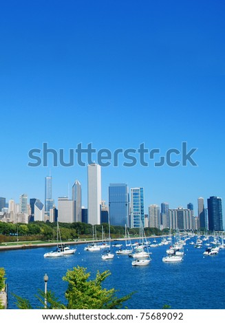 A vertical chicago view - stock photo