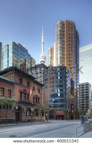 A Vertical of Toronto buildings in the city center