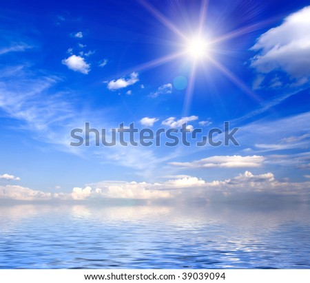 a very beautiful sunny sky background