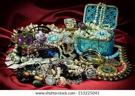 A very bright women jewelry - stock photo