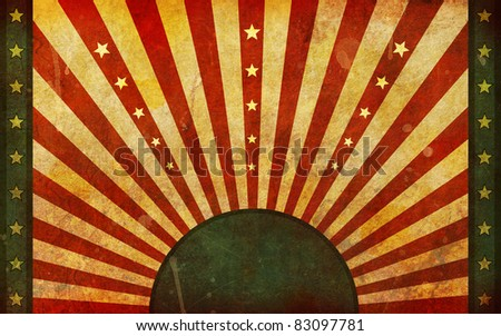 A very dirty, aged and worn flag like background illustration in a widescreen aspect ratio. - stock photo