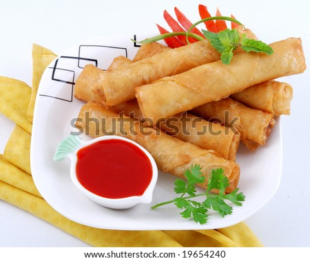 a very famous & tasty snacks meal - stock photo
