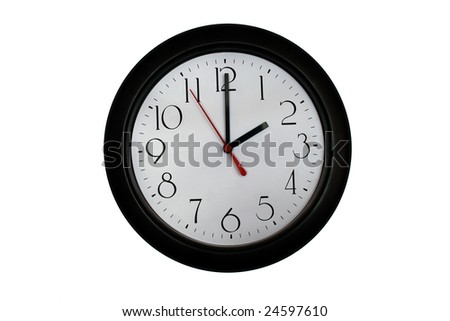 A very nice shot of a clock showing 2 O'clock - stock photo