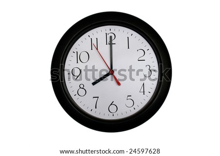 A very nice shot of a clock showing 8 O'clock - stock photo