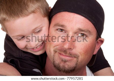 A very relaxing image of a father and his son.