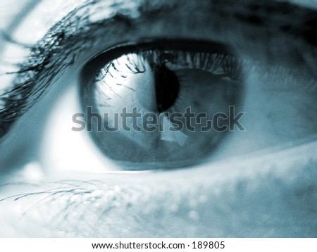a very sharp macro of an eye - stock photo