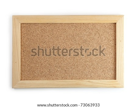 A very small cork board isolated on white. - stock photo