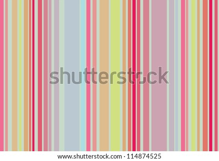 A very smooth color combination in a varied stripes composition