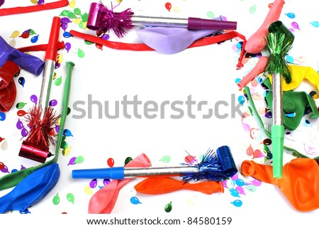 A vibrant multi-colored frame for celebrating birthdays. - stock photo
