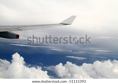 A view from a flight. - stock photo