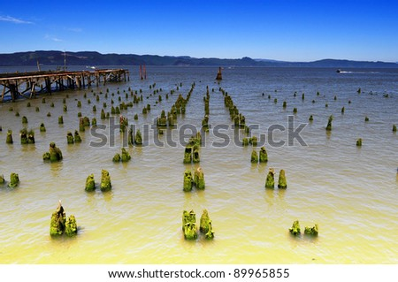 A view from Astoria, Oregon - stock photo