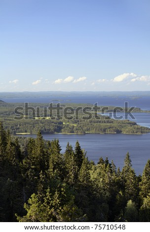 A View from Koli national Park, Finland - stock photo