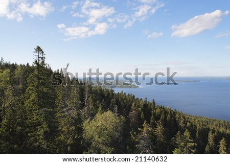 A View from Koli national park vantage point, Finland - stock photo
