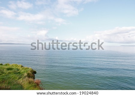 a view from the cliff walk ballybunion co kerry ireland - stock photo