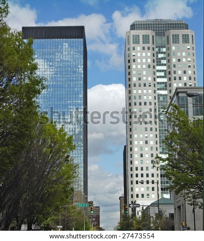A view from the streets of Birmingham AL. - stock photo