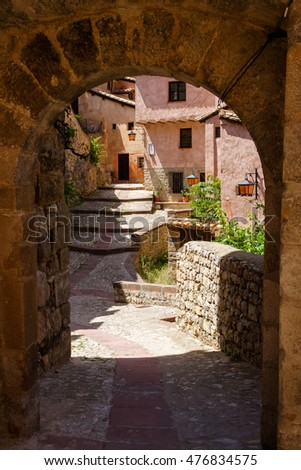 A view in Albarracin, Teruel