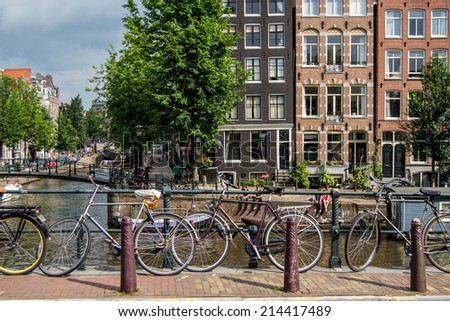 A view in Amsterdam