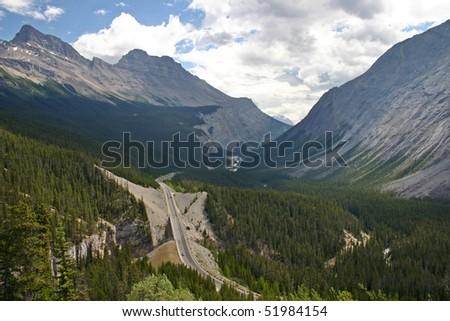 A view in Banff national park.