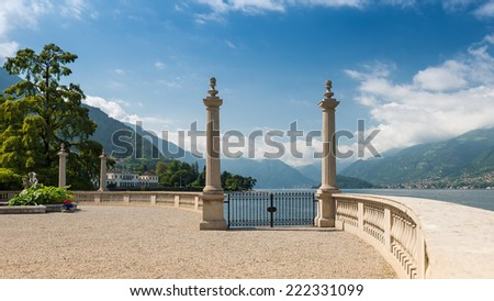 A view like from a romantic fairy tale; Bellagio, Lake Como, Near Milan, Italy, Europe - stock photo