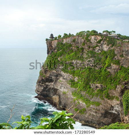 A view of a cliff in Bali Indonesia