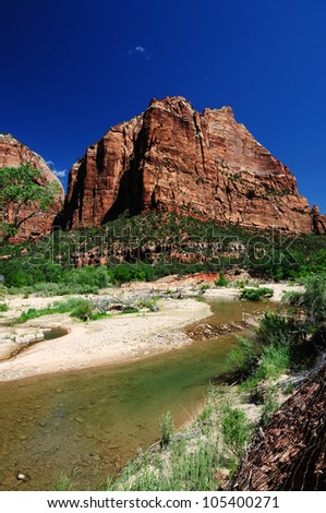 A View of Angels Rest at Zion - stock photo
