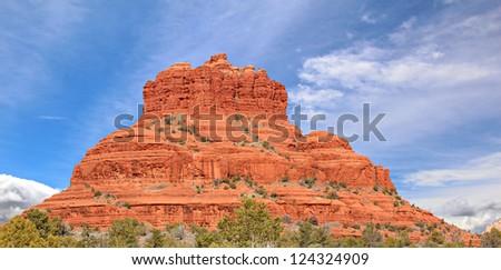 A view of Bell Rock in Sedona, Arizona, USA - stock photo