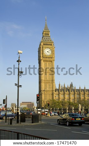 A view of Big Ben on a sunny day. London. - stock photo