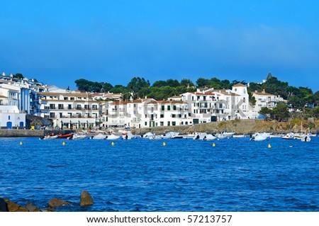 A view of Cadaques coast, Costa Brava, Spain - stock photo