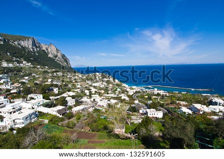 A view of Capri island, Italy - stock photo