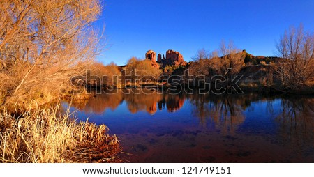 A view of cathedral rock Sedona, Arizona, USA - stock photo