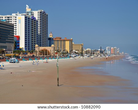 A view of Daytona Beach Florida USA - stock photo