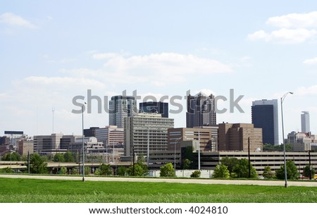 A view of downtown Birmingham, AL - stock photo