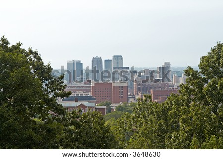 A view of downtown Birmingham, Alabama. - stock photo