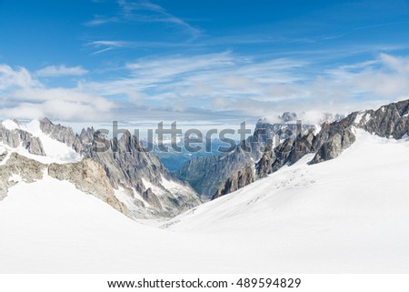 a view of mont blanc, coumayeur, italy