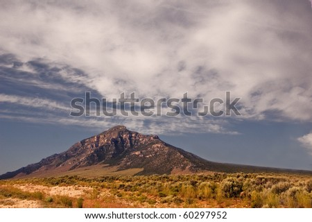 A view of Mount Baker in Great Basin National Park outside of Las Vegas in Nevada - stock photo