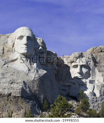 A view of Mount Rushmore in South Dakota - stock photo