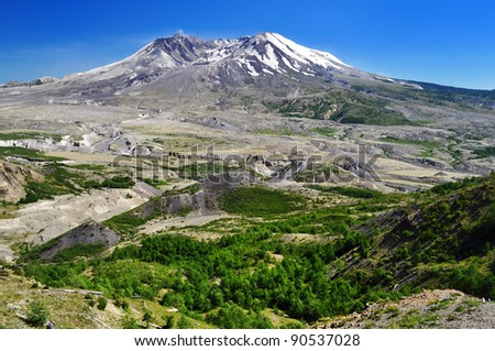A View of Mount Saint Helens summit - stock photo