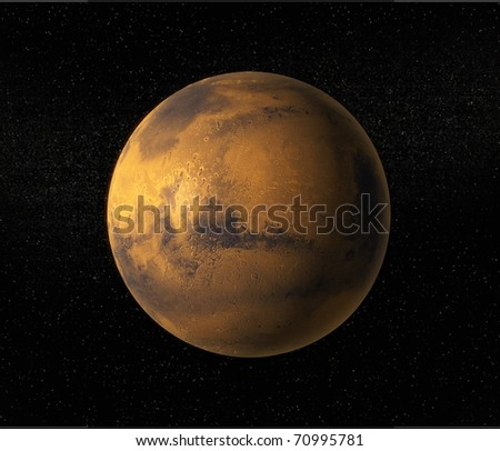 A view of planet Mars - stock photo